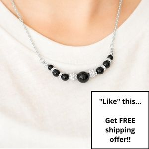 Paparazzi - Black - Necklace & Earring Set - #211